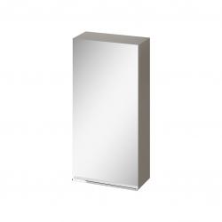 CERSANIT - Zrcadlová skříňka VIRGO 40 šedý dub s chromovými úchyty (S522-011)