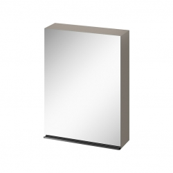 CERSANIT - Zrcadlová skříňka VIRGO 60 šedý dub s černými úchyty (S522-016)