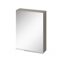CERSANIT - Zrcadlová skříňka VIRGO 60 šedý dub s chromovými úchyty (S522-015)