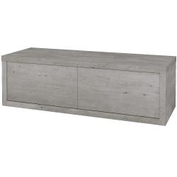 Dřevojas - Koupelnová skříň STORM SZZ2 120 bez umyvadla - D01 Beton / D01 Beton / Levé (169305)