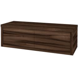 Dřevojas - Koupelnová skříň STORM SZZ2 120 bez umyvadla - D06 Ořech / D06 Ořech / Levé (169350)