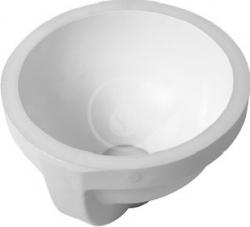 DURAVIT - Architec Bezotvorové umyvadlo s přepadem, průměr 275 mm, bílé - umyvadlo, s WonderGliss (03192700001)