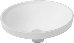 DURAVIT - Architec Umyvadlo bez přepadu, průměr 375 mm, bílá (0319370000)