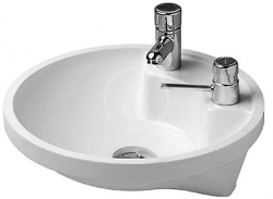 DURAVIT - Architec Umyvadlo bez přepadu, průměr 400 mm, WonderGliss, bílá (04624000001)