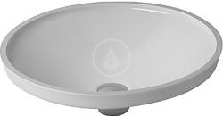DURAVIT - Architec Umyvadlo bez přepadu, průměr 420 mm, WonderGliss, bílá (03194200001)