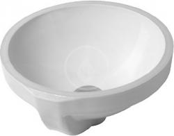 DURAVIT - Architec Umyvadlo s přepadem, průměr 325 mm, WonderGliss, bílá (03193200001)