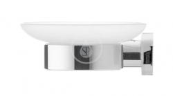 DURAVIT - D-Code Mýdlenka s držákem, levá, mléčné sklo/chrom (0099171000)