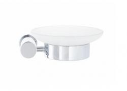 DURAVIT - D-Code Mýdlenka s držákem, pravá, mléčné sklo/chrom (0099181000)