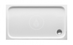 DURAVIT - D-Code Sprchová vanička 1200x700 mm, Antislip, alpská bílá (720094000000001)