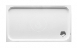 DURAVIT - D-Code Sprchová vanička 1300x750 mm, Antislip, alpská bílá (720098000000001)