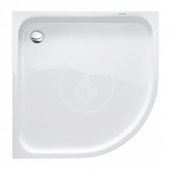DURAVIT - D-Code Sprchová vanička čtvrtkruhová 900x900 mm, Antislip, alpská bílá (720108000000001)