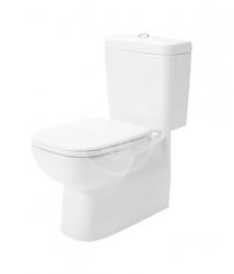DURAVIT - D-Code WC kombi mísa, Vario odpad, alpská bílá (21180900002)