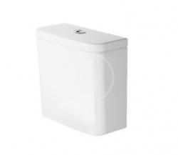 DURAVIT - DuraStyle Basic Splachovací nádrž 390x170 mm, boční připojení, Dual Flush, s WonderGliss, alpská bílá/chrom (09410000851)