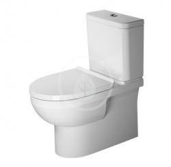 DURAVIT - DuraStyle Basic WC kombi mísa, Vario odpad, Rimless, s HygieneGlaze, alpská bílá (2182092000)