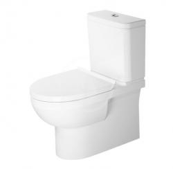 DURAVIT - DuraStyle Basic WC kombi mísa, Vario odpad, Rimless, s WonderGliss, alpská bílá (21820900001)