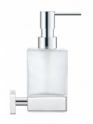 DURAVIT - Karree Dávkovač mýdla s držákem, chrom/mléčné sklo (0099541000)