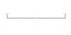 DURAVIT - Karree Držák ručníků, délka 800 mm, chrom (0099601000)