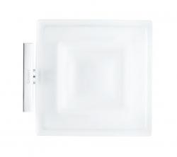 DURAVIT - Karree Mýdlenka s držákem, chrom/mléčné sklo (0099521000)