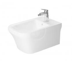 DURAVIT - P3 Comforts Závěsný bidet, DuraFix, alpská bílá (2268150000)