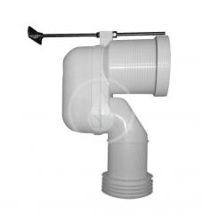 DURAVIT - Příslušenství Vario připojovací koleno pro WC, spodní odpad (8990250000)