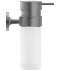 DURAVIT - Starck T Dávkovač mýdla s držákem, černá mat/mléčné sklo (0099354600)