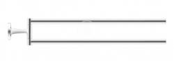DURAVIT - Starck T Držák ručníků dvojitý otočný, délka 465 mm, chrom (0099411000)