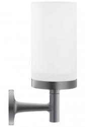 DURAVIT - Starck T Sklenka na kartáčky a pastu s držákem, černá mat/mléčné sklo (0099314600)