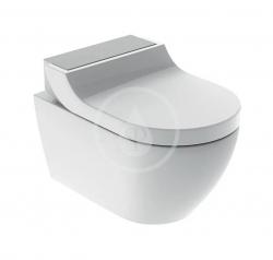 GEBERIT - AquaClean Elektronický bidet Tuma Comfort s keramikou, Rimfree, SoftClosing, kartáčovaná nerez (146.292.FW.1)