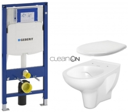 GEBERIT Duofix bez ovládací desky + WC CERSANIT ARTECO CLEANON + SEDÁTKO (111.300.00.5 AT2)