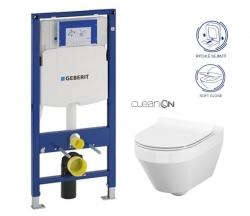 GEBERIT Duofix bez ovládací desky + WC CERSANIT CLEANON CREA OVÁL + SEDÁTKO (111.300.00.5 CR1)