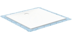 GEBERIT - Setaplano Plochá sprchová vanička, 1200x1200 mm, minerální materiál, Antislip, alpská bílá (154.290.11.1)