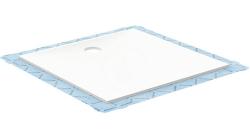 GEBERIT - Setaplano Plochá sprchová vanička, 900x900 mm, minerální materiál, Antislip, alpská bílá (154.270.11.1)