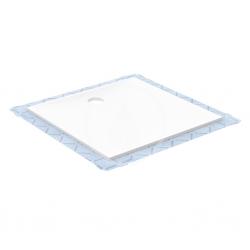 GEBERIT - Setaplano Plochá sprchová vanička, minerální materiál, 800x800 mm, bílá (154.260.11.1)