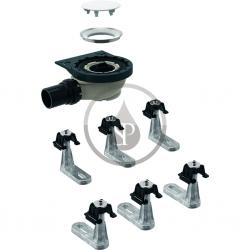 GEBERIT - Setaplano Sprchová odpadní souprava se 6 nožičkami pro sprchovou vaničku Setaplano, výška vodního uzávěru 50 mm (154.013.00.1)