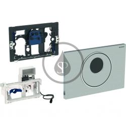 GEBERIT - Sigma10 Elektronické ovládací tlačítko pro 2 množství splachování, síťové napájení, kartáčovaná/leštěná nerez (115.856.SN.1)
