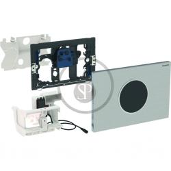 GEBERIT - Sigma10 Elektronické ovládací tlačítko pro 2 množství splachování, síťové napájení, kartáčovaná nerez (115.906.SN.1)