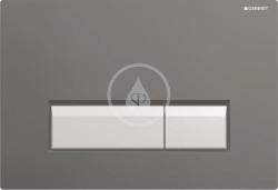 GEBERIT - Sigma40 Ovládací tlačítko Sigma40, pro 2 množství splachování, integrované odsávání zápachu, černá/kartáčovaný hliník (115.600.KR.1)