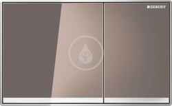 GEBERIT - Sigma60 Ovládací tlačítko Sigma60, hnědé sklo (115.640.SQ.1)