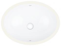 GROHE - Bau Ceramic Umyvadlo s přepadem, 560 × 420 mm, alpská bílá (39423000)