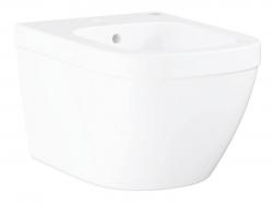 GROHE - Euro Ceramic Závěsný bidet s přepadem, PureGuard, alpská bílá (3920800H)