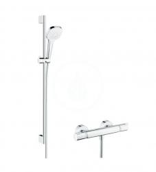 HANSGROHE - Croma Select E Sprchový set Vario s termostatem, 3 proudy, sprchová tyč 900 mm, bílá/chrom (27082400)