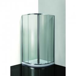 HOPA - VÝHODNÝ SET - ČTVRTKRUH SMART MURO s vaničkou - Barva rámu zástěny - Hliník chrom, Výplň - Grape bezpečnostní sklo - 4 / 6 mm (OLCTVRT90CG2)