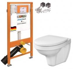 JOMOTech modul pro závěsné WC bez sedátka + WC CERSANIT DELFI + SEDÁTKO (174-91100700-00 DE1)