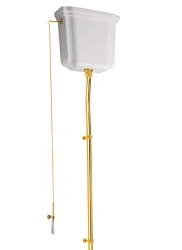 KERASAN - RETRO-WALDORF splachovací mechanismus s řetízkem, zlato (750191)