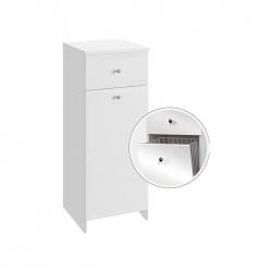 Koupelnová doplňková skříňka nízká s výklopným košem Vilma NK 32   A-Interiéry (vilma nk32)