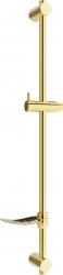 MEXEN - DF Posuvný držák sprchy s mýdlenkou, 80 cm, zlatá (79382-50)