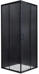 MEXEN - Rio sprchový kout čtverec 80x80 cm, průhledná, černá (860-080-080-70-00)