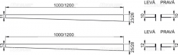 Nerezová lišta pro spádovanou podlahu LEVÁ 1 m tl.dlažby 12mm, výška lemu 14mm mat ALCAPLAST APZ903M/1000 (APZ903M/1000)