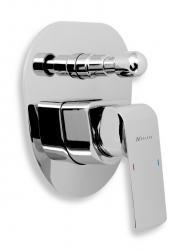 NOVASERVIS - Vanová sprchová baterie s přepínačem KVADRO chrom (35050R,0)