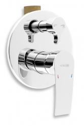 NOVASERVIS - Vanová sprchová baterie s přepínačem Nobless Heda chrom (40050R,0)